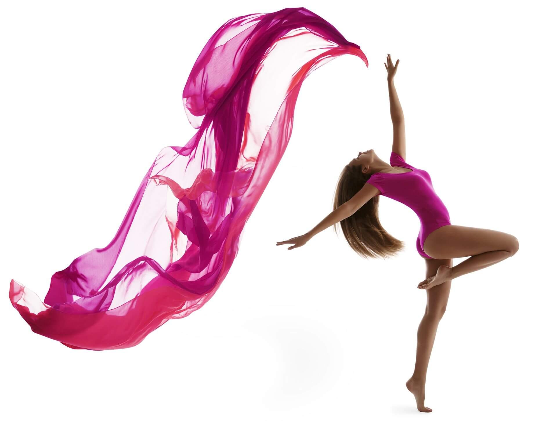 Pink fabric dancer _shutterstock_296481767